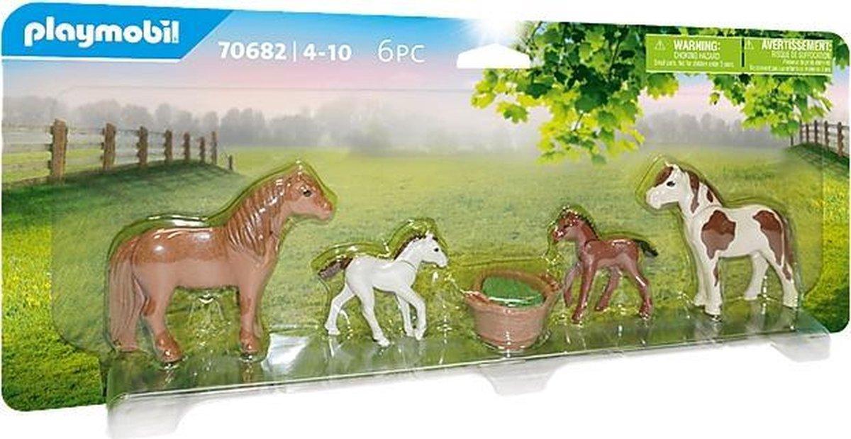 PLAYMOBIL Country Pony's met veulens - 70682