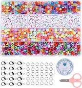 Fako Bijoux® - Letterkralen Set - Letter Beads - Alfabet Kralen - Sieraden Maken - Letters & Hartjes