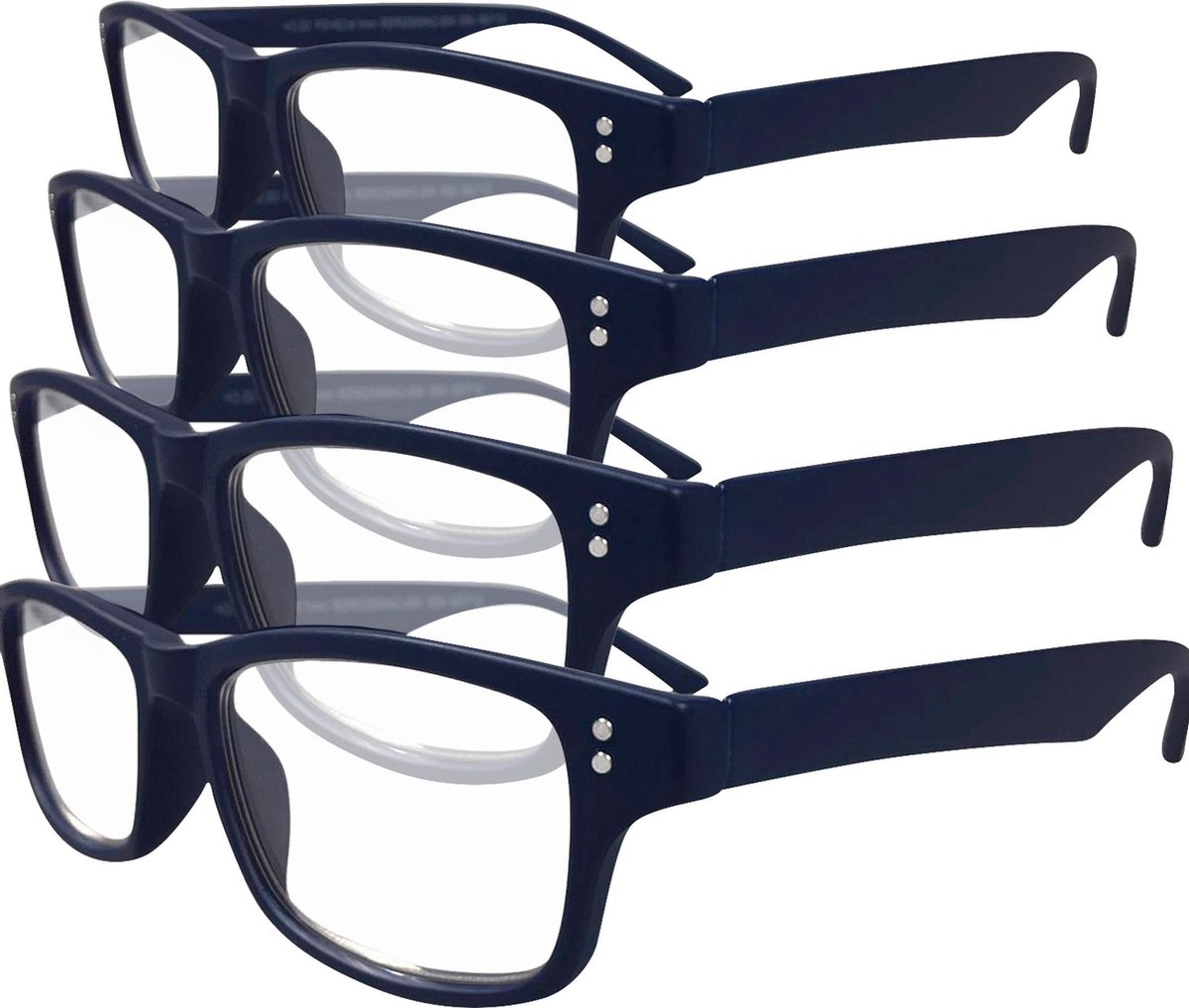 Etos Leesbril mat donkerblauw +2.0 - 4 stuks