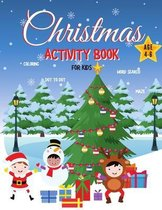 Christmas Activity Book for Kids Ages 4-6