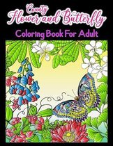 Country Flower And Butterfly Coloring Book For Adult