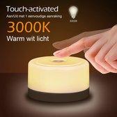 Novalits™ - USB Oplaadbaar Nachtlampje kinderen - LED verlichting - Leeslamp - Tafellamp - Bedlamp voor Baby, Kinderen & Volwassenen - Kinderkamer - Dimbaar - Touch Control - Met Wit Warm licht - Nachtlamp - Met magneetstrip