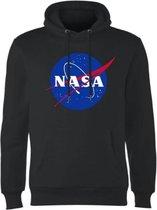 Hoodie sweater | Nasa klassieke Insignia logo | zwart | Maat Medium