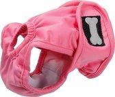 Hondenbroekje - loopsheid - menstruatie - maandstonden of na operatie - wasbaar - ROZE - XL