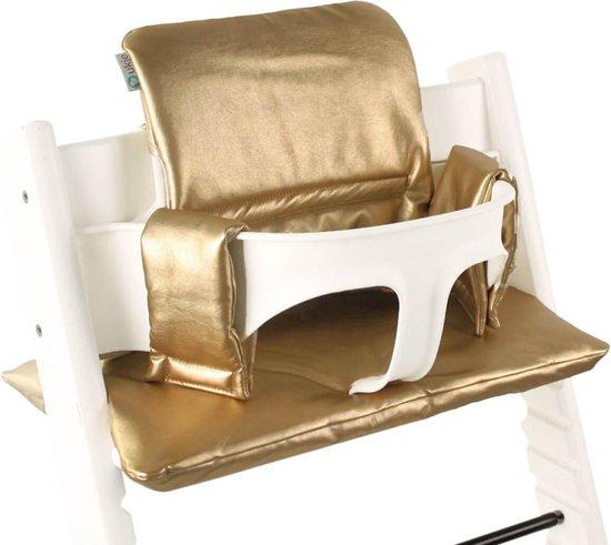 Stokke Tripp Trapp Kussenset - Geplastificeerd - Gold leather