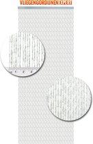Vliegengordijnenexpert Milano - Vliegengordijn - 100x240 cm - Transparant met witte draad