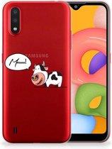 Samsung Galaxy A01 Telefoonhoesje met Naam Cow