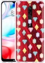 Xiaomi Redmi 8 Hoesje Diamonds