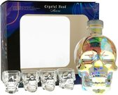 Crystal Head Aurora Vodka + 4 Glasses