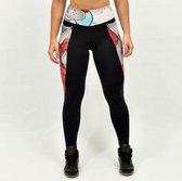 High waist sport legging dames | Graffiti beasts | Inverse | Unieke graffitiprint - Dheo -  Maat XL