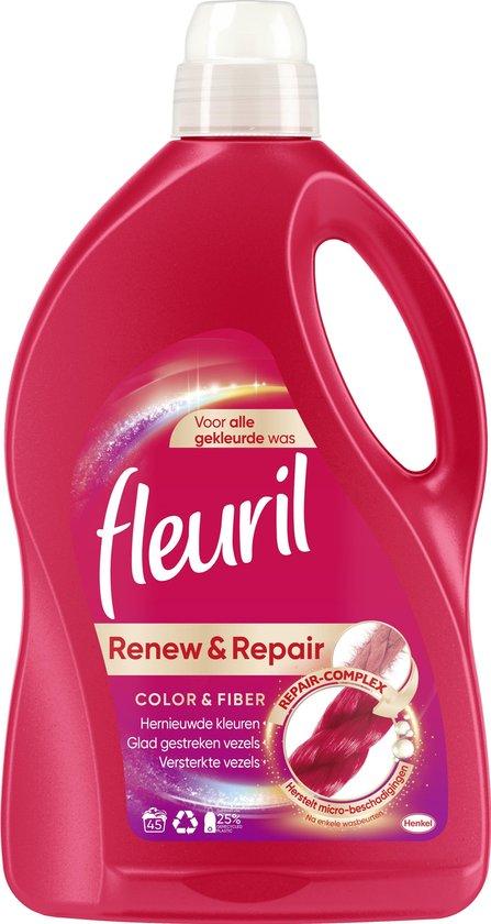 Fleuril Renew & Repair Color & Fiber Wasmiddel - Gekleurde Was - 45 wasbeurten