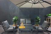 ATLANTIS | Axel | Loungeset Tuinset Dining Set | Industrieel | Grijs / Zwart | 4 Zitplaatsen