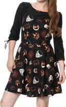 Banned Korte jurk -S- THE HAUNTED Zwart