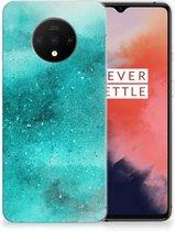 OnePlus 7T Hoesje maken Painting Blue