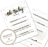 Babyshower invulkaarten - Babykaarten - Babyvoorspellingen - Babyshower - Babyshowerspelletjes - Babyborrel - BSG409 (20 stuks)