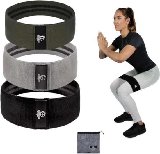 Resistance Band Weerstandsbanden Sport Trainingsband Booty Band – 3 Pack Fitness Gymnastiekband – Elastiek Fitnessband – Weerstandsband Set - Goddess Shape®️