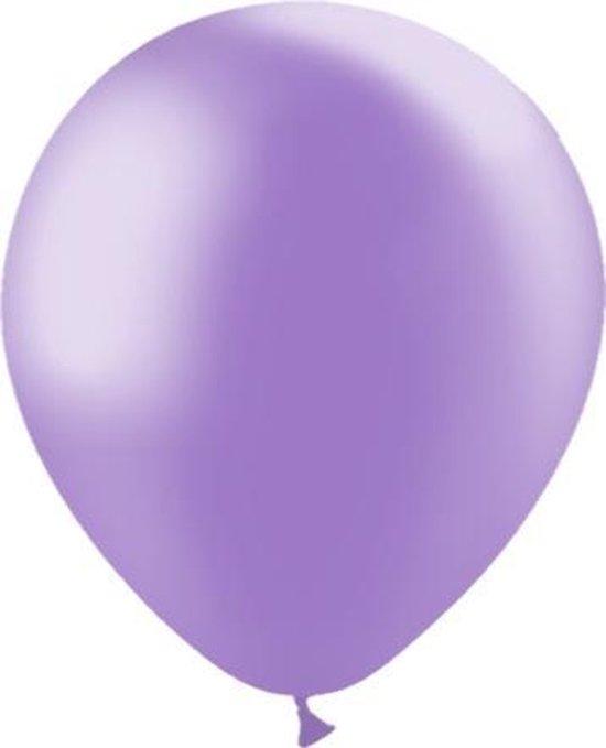 Lila Ballonnen Metallic 30cm 10st