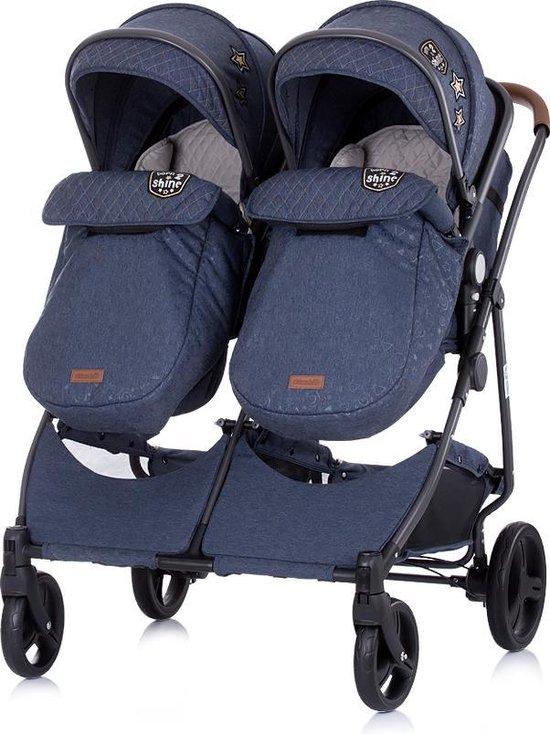 Duo Kinderwagen 0+ new borns Chipolino Duo Smart Denim met luiertas