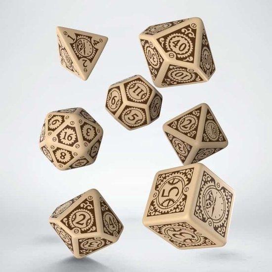 Afbeelding van het spel Steampunk Clockwork Beige & brown Dice Set