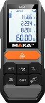 MAKA Laser afstandmeter - 60 meter - Batterijen inbegrepen