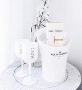 Moët & Chandon Ice Imperial Ice Bucket met 2 Glazen - Luxe Wijnkoeler / IJsemmer en Champagneglas 2x