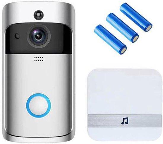 Deurbel met camera – NL Handleiding – Draadloze deurbel met camera – Deurtelefoon inclusief gong en oplaadbare batterijen – Video deurbel