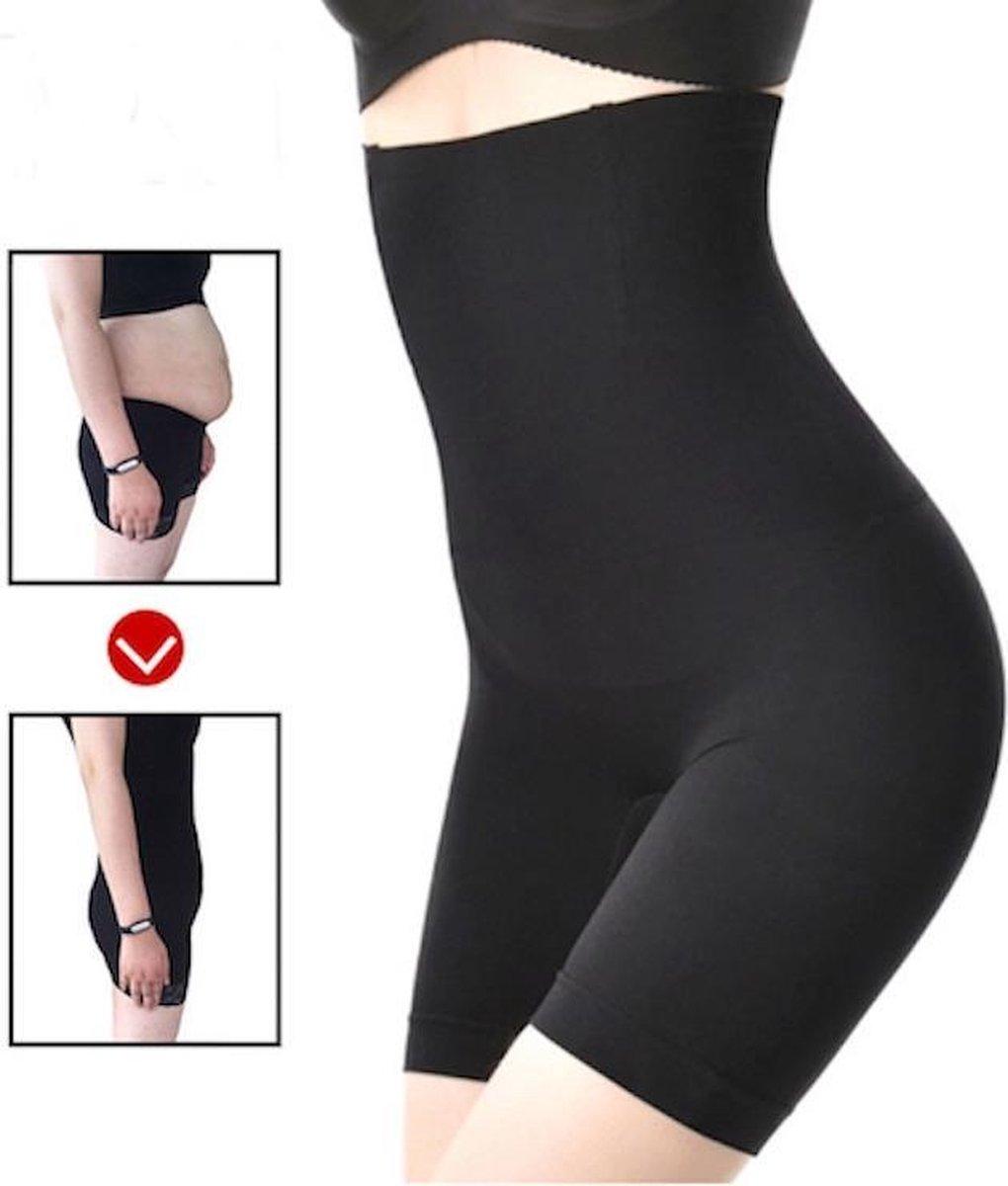 Shapewear voor billen, buik en dijen - corrigerend ondergoed high waist - zwart - maat M/L