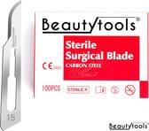 Scalpels - Pedicure / Bistouri messen - NR. 15 (100 Stuks - individueel/steriel verpakt) - (BP-0676)