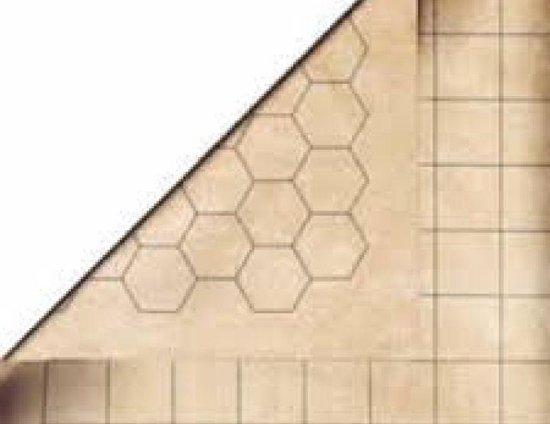 Afbeelding van het spel Reversible Battlemat Squares & Hexes 1.5'