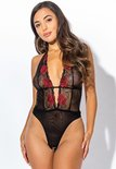 Christine le Duc - Luxe Body Sally - maat XXL- zwart/rood