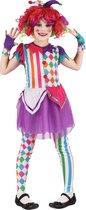 LUCIDA - Kleurrijk harlekijn kostuum voor meisjes - M 122/128 (7-9 jaar)