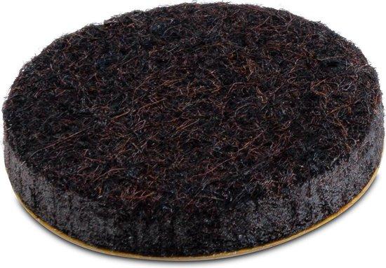Plakvilt bruin Ø 28 - 5,5 mm (50 st.)