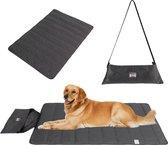 Honden reisdeken in handige tas - Dierendeken - Zwart - 100x70CM - makkelijk meenemen