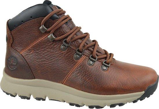 Timberland World Hiker Mid A213Q, Mannen, Bruin, Schoenen maat: 41,5 EU