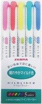 Mildliner Zebra Double Sided Marker Bright Colors - Set van 5