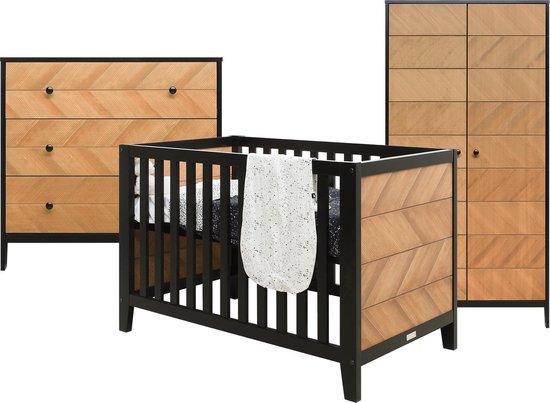 Bopita Job 3-Delige Babykamer - Bed - Commode - 2-Deurskast - Vintage Honey
