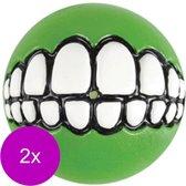 Rogz Grinz Treat Ball Small - Hondenspeelgoed - 2 x Lime S