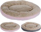 RelaxPets - Hondenmand - Hondenkussen - Donut - Lekker Slapen - Pluche - Mand - Roze