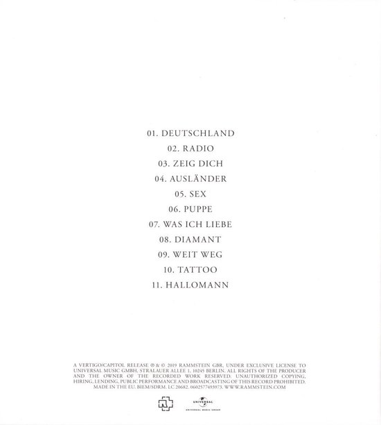 Rammstein (Special Edition)