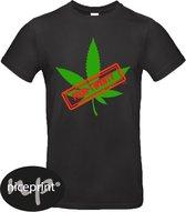 Zwart uni shirt Fout twenty stamp maat XXL