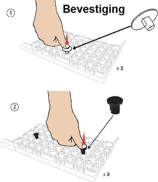Drempelhulp Binnen - Set 3 - 5,6 tot 7,2 cm (H) x 75 cm (B) - Verstelbare Oprijplaat / Drempelplaat - Oprijhelling - HomeCare Innovation BV
