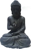 Boeddha beeld garden 60 cm donkergrijs