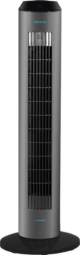 Cecotec Stille torenventilator - Ionic luchtverfrisser - Toren ventilator staand - Timer - Afstandsbediening – Zwart