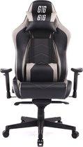 Gaming stoel GTG GT1 luxe en stevige stoel, zwart -grijs 74x70x130/138cm. E-sports