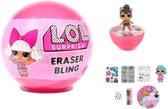 LOL Surprise bal met gum figuur - accessoires - potloden  - lol surprise omg
