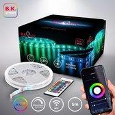 B.K.Licht - Smart LED Strip 5 meter - WiFi LED Band - RGB - App bestuurbaar