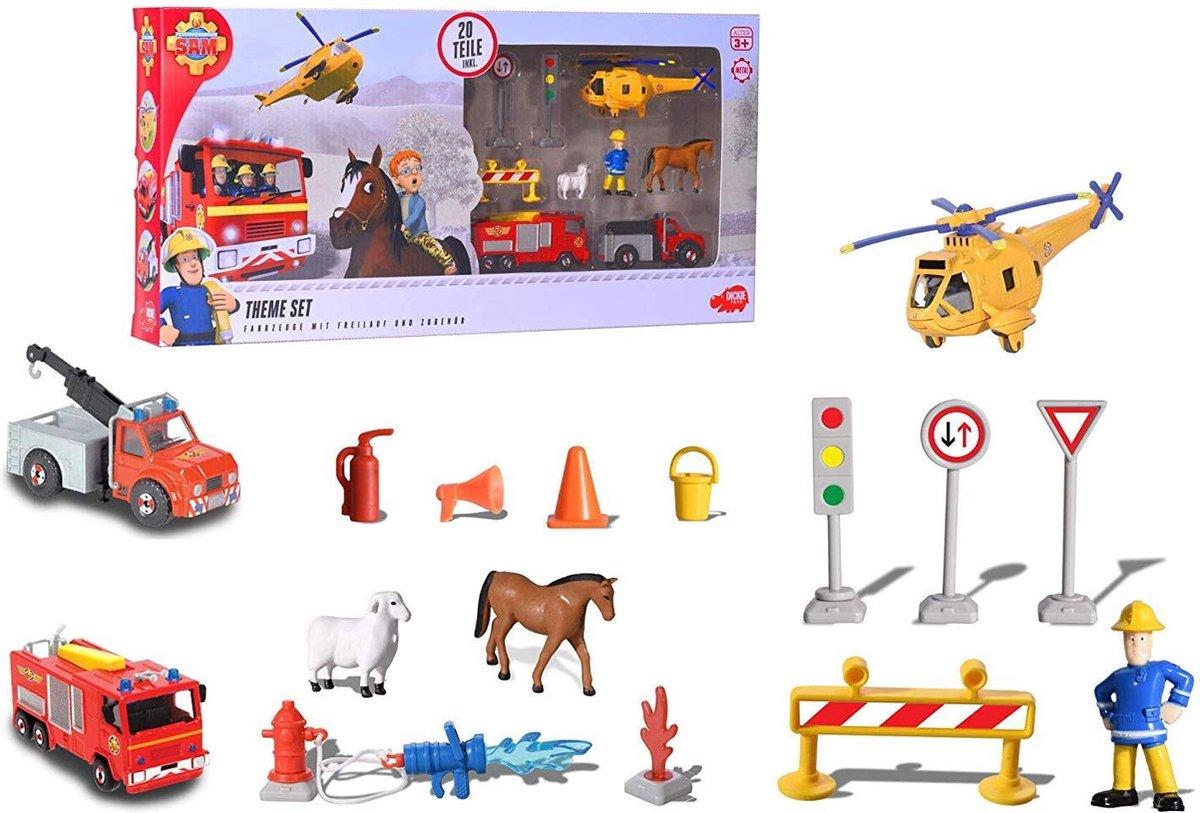 Dickie Brandweerman Sam Theme Set (Mini figuurtjes)