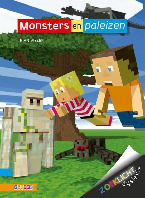 Boek cover Zoeklicht dyslexie  -   Monsters en paleizen van Rian Visser (Hardcover)