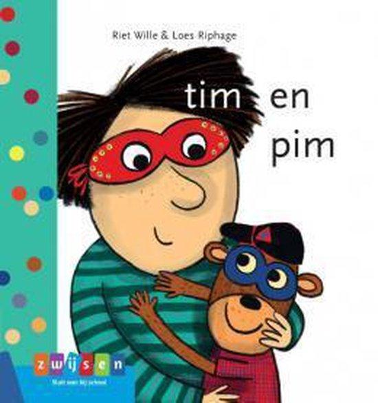 Boek cover Leren lezen AVI start  -   tim en pim van Riet Wille (Hardcover)