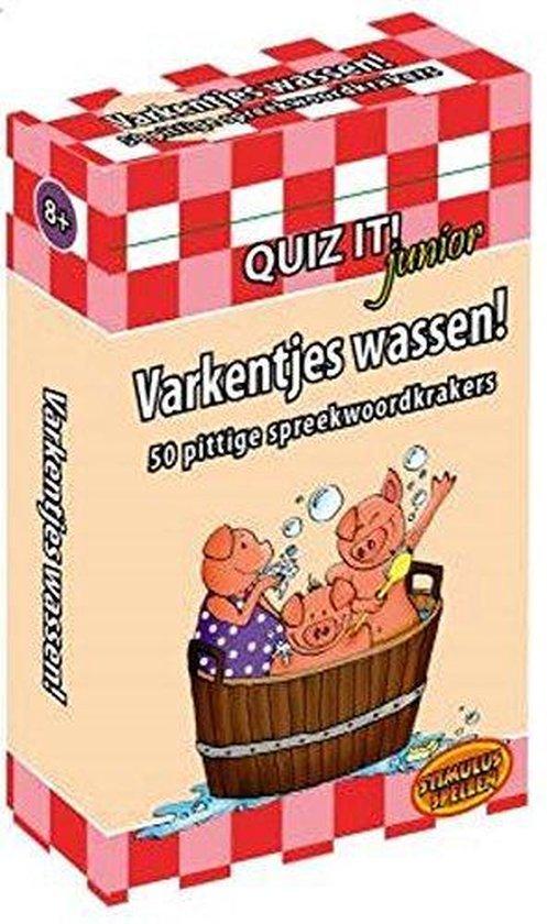 Cover van het boek 'Quiz-it junior varkentjes wassen QT13'